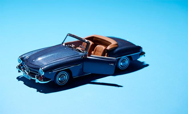 190SLのロードスターのモデルカー
