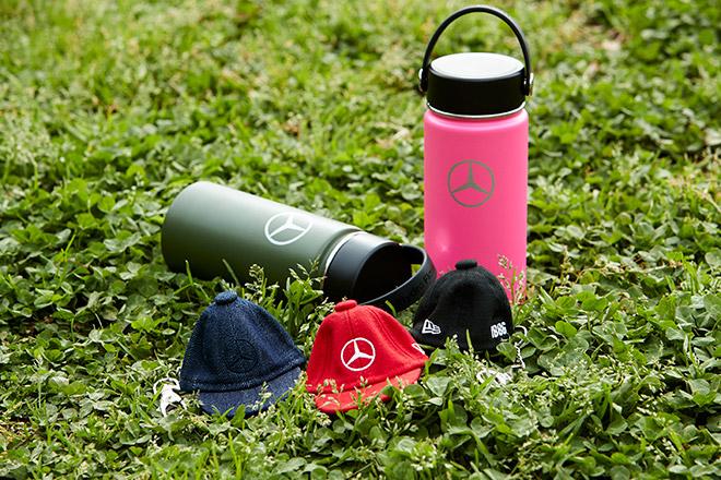 Mercedes-Benz × Hydro Flask ステンレスボトルとMercedes-Benz × NEW ERA® Cap Keyholder