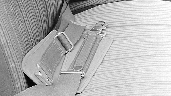 W180に備えられたシートベルト