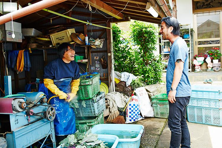 ビームスバイヤーの加藤さんの鎌倉のご実家、加藤野菜農園に着く