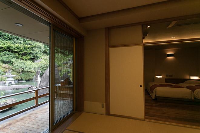 本館の庭園露天風呂付和洋室(全2室)