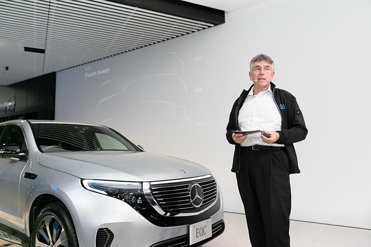 メルセデス・ベンツ初の電気自動車、EQC日本初公開!