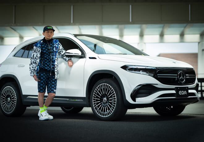 「DA PUMP」ISSAが電気自動車EQAを体験。ゴルフを楽しむ休日の使い方【前編】